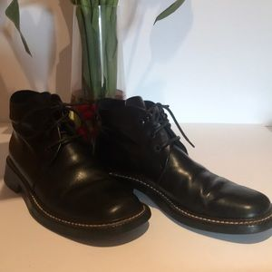 Women Barneys New York ankle lace up boots 8.5